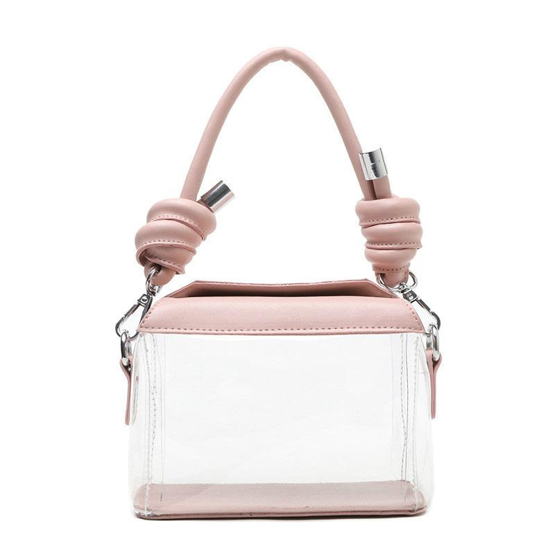 a3895caa1ace Transparent Cute Female Bag 2019 New Quality Pvc Transparent Women S  Designer Luxury Handbag Simple Tote Shoulder Messenger Bags Ladies Purse  Leather ...