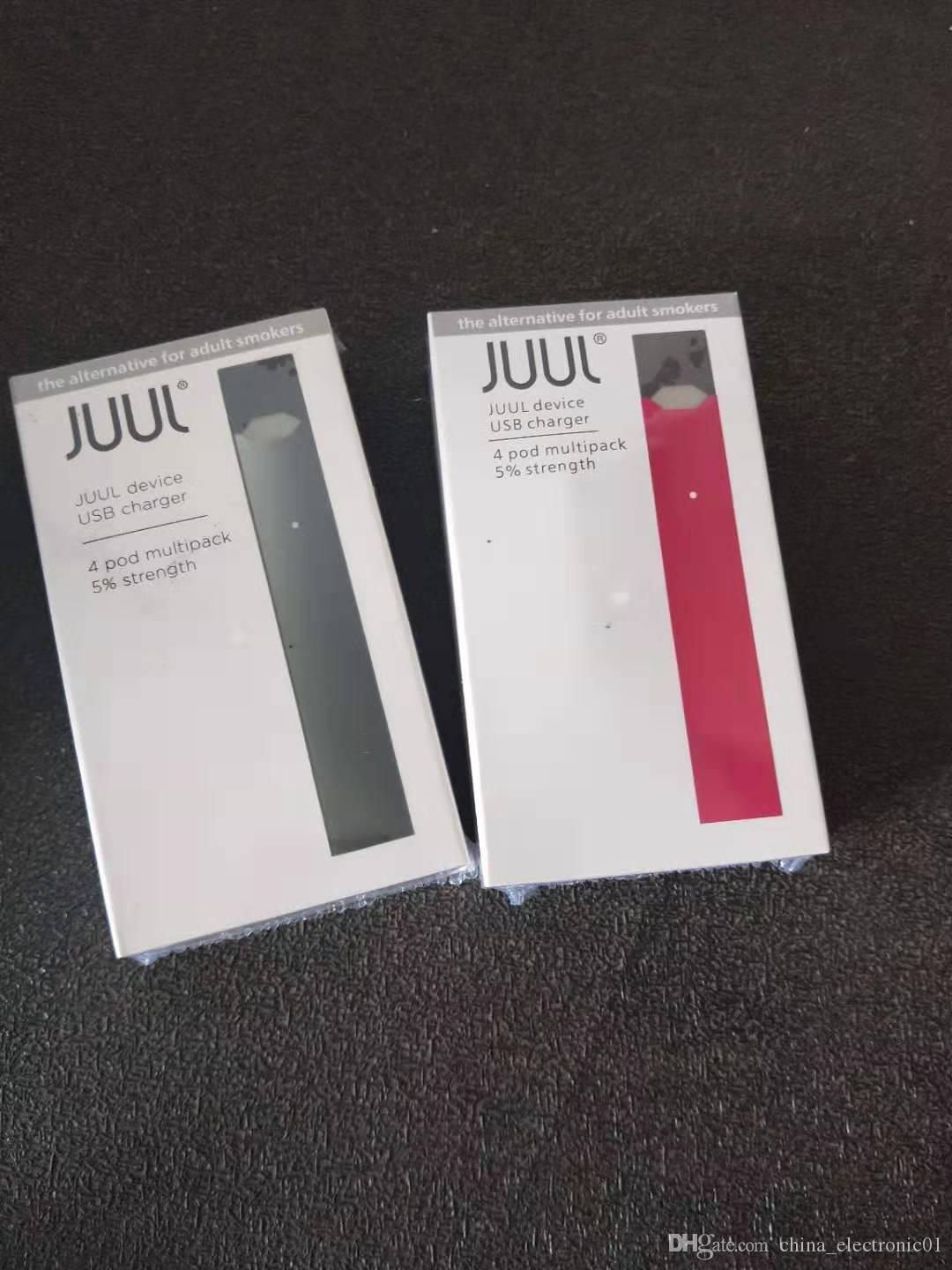 DHL FREE Juul starter Kit with 4 Pods and USB Charger Vape juul vaporizer  pen juul DHL Free shipping