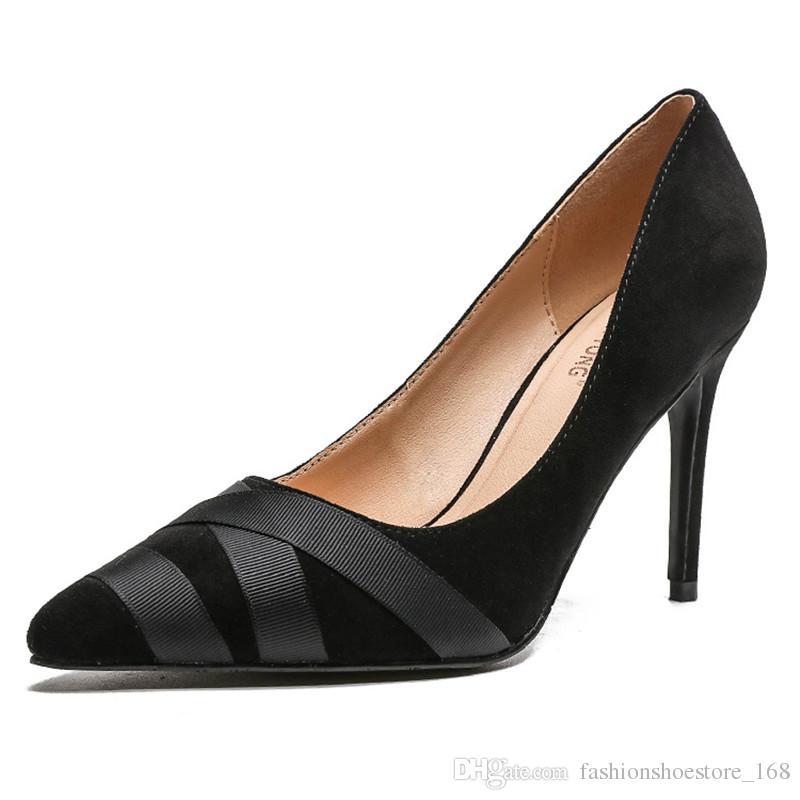 7add7865c Compre Stiletto Senhoras Sapatos De Salto Alto 2019 New Pointed Boca Rasa  Mulher Sapatos De Festa Estilo Profissional Flexível Sense Mulheres Sapato  De ...