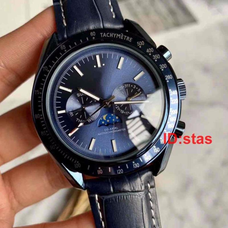 Top Luxury Stainless Steel Uomo Automatic Diver professionale The Moon Series Master Watch Reloj Orologi da polso