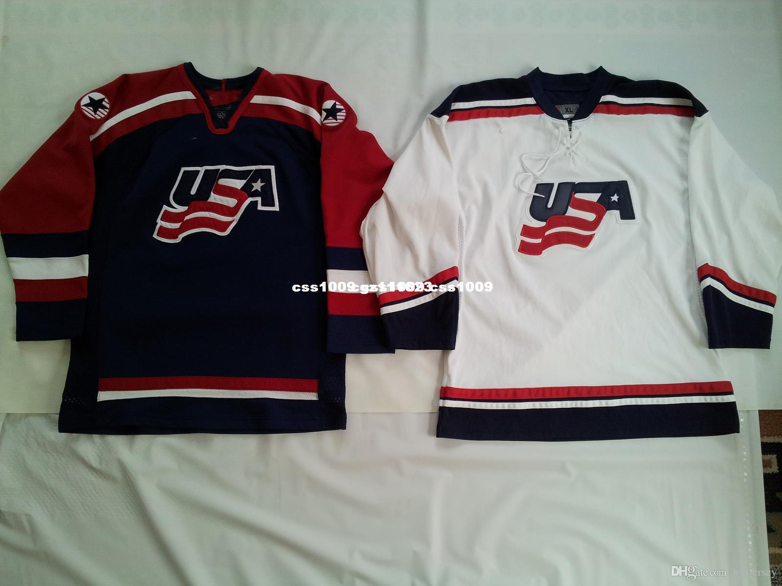b6bfc0abb 2019 Cheap Custom TWO VINTAGE USA NATIONAL TEAM HOCKEY JERSEY S Stitched  Mens Retro Jerseys From Hysjersey