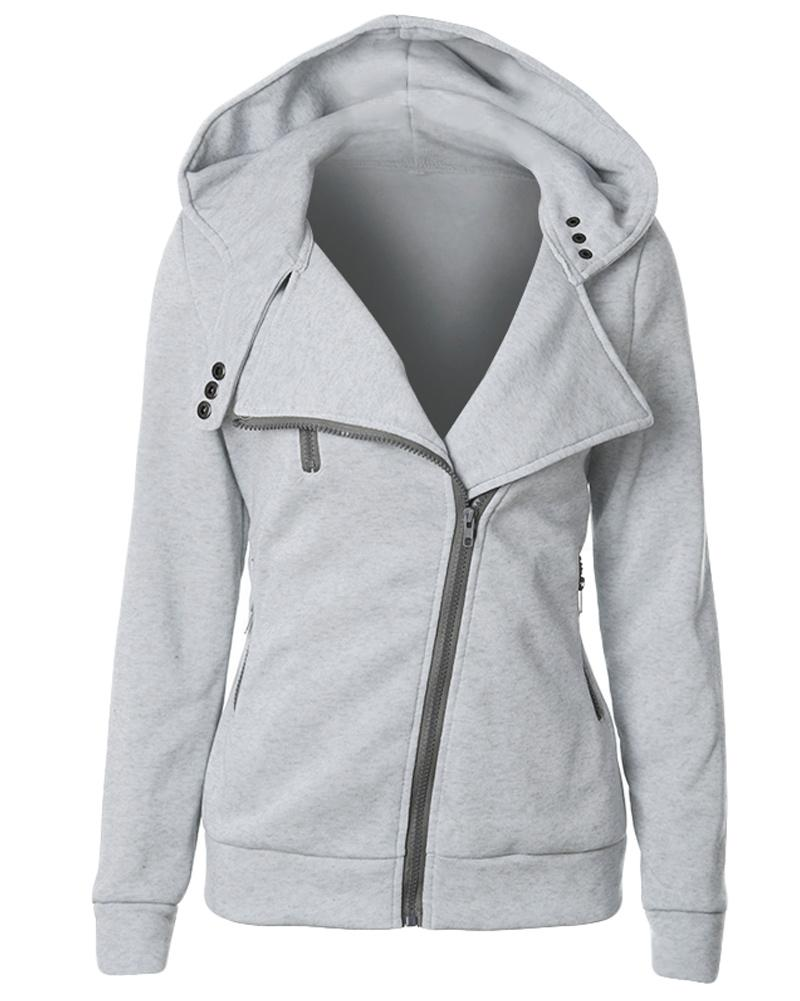 6069ec6b20d Female Hoodies Sweatshirt Autumn Winter Long Sleeve Zip Hooded Sudaderas  Mujer Warm Women Tracksuit Harajuku Streetwear Online with  25.15 Piece on  ...