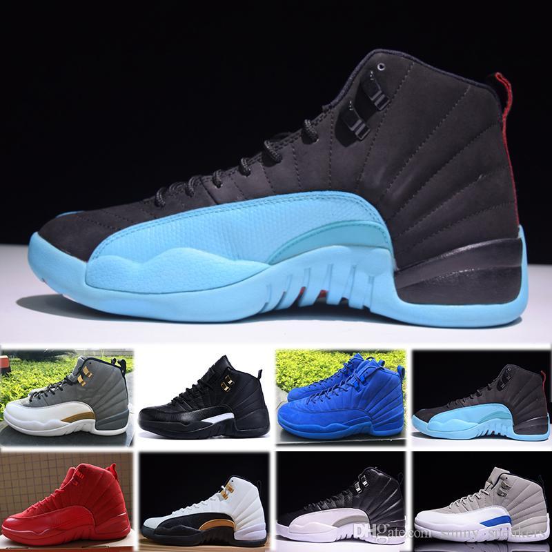 premium selection 4e558 b5911 Acquista Nike Air Jordan 1 4 6 11 12 13 Retro 12 12s Di Alta Qualità OVO  Palestra Red Bulls Master Scarpe Da Basket Uomo Donna Taxi Flu Gioco  Francese Blu ...