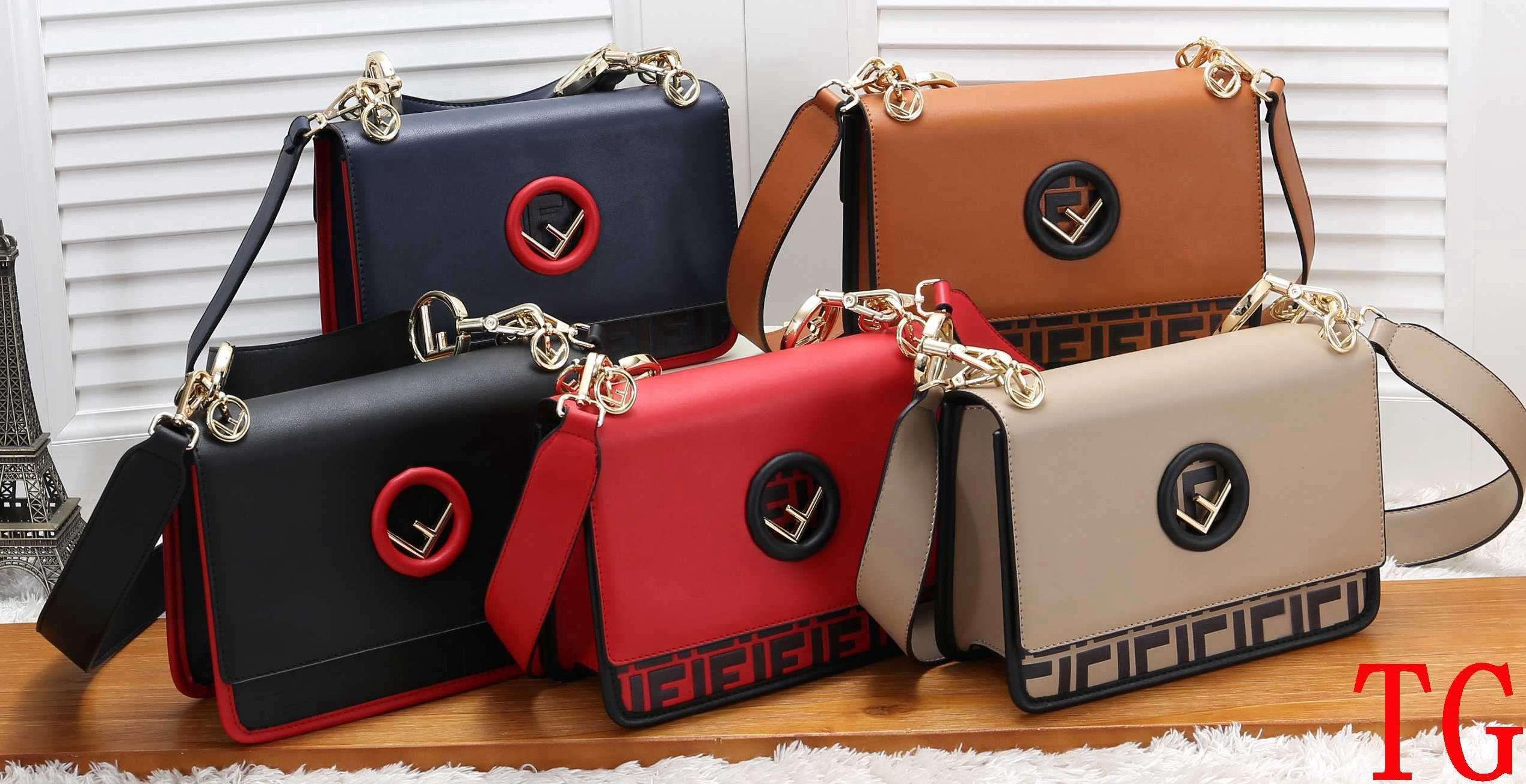 0c0ddaa50c34 2019 Luxury Double F Flap Shoulder Bags Designer Leather Shoulder Bags  Women Solid Color Leather Purse Leather Belts Crossbody Handbags Shoulder  Bags For ...