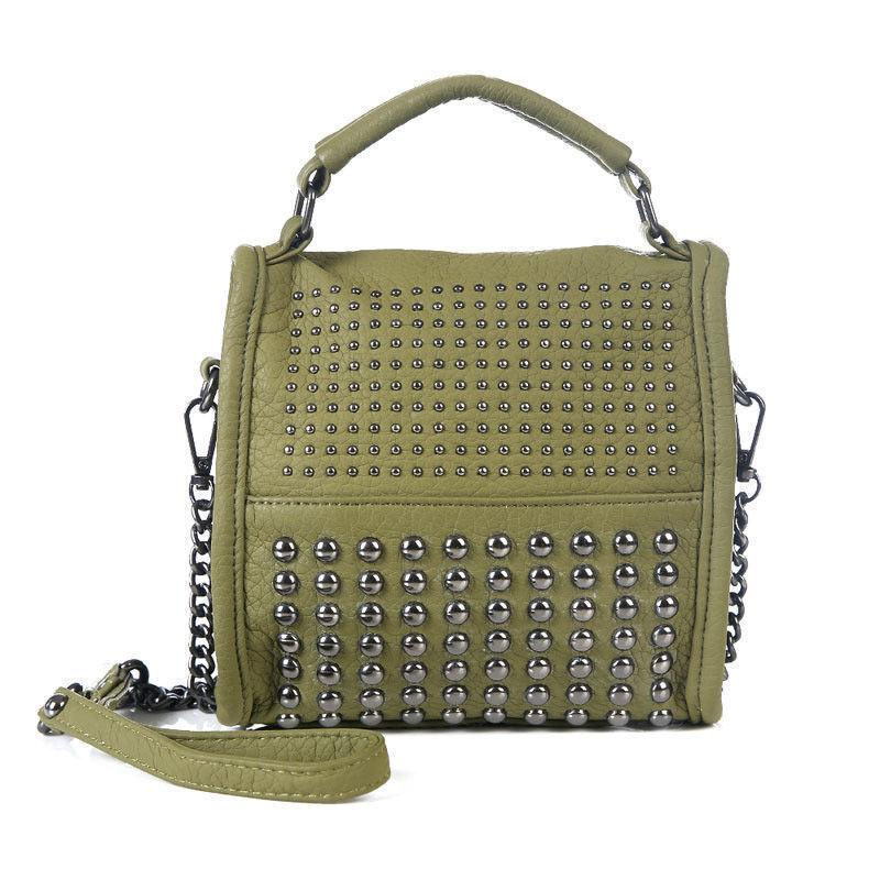 High Quality Rivet Women Bags Luxury Handbags Famous Brand Designer  Shoulder Bag Pu Leather Small Evening Bags Cross Body Leather Satchel  Ladies Bags From ... 53a466a9c8871