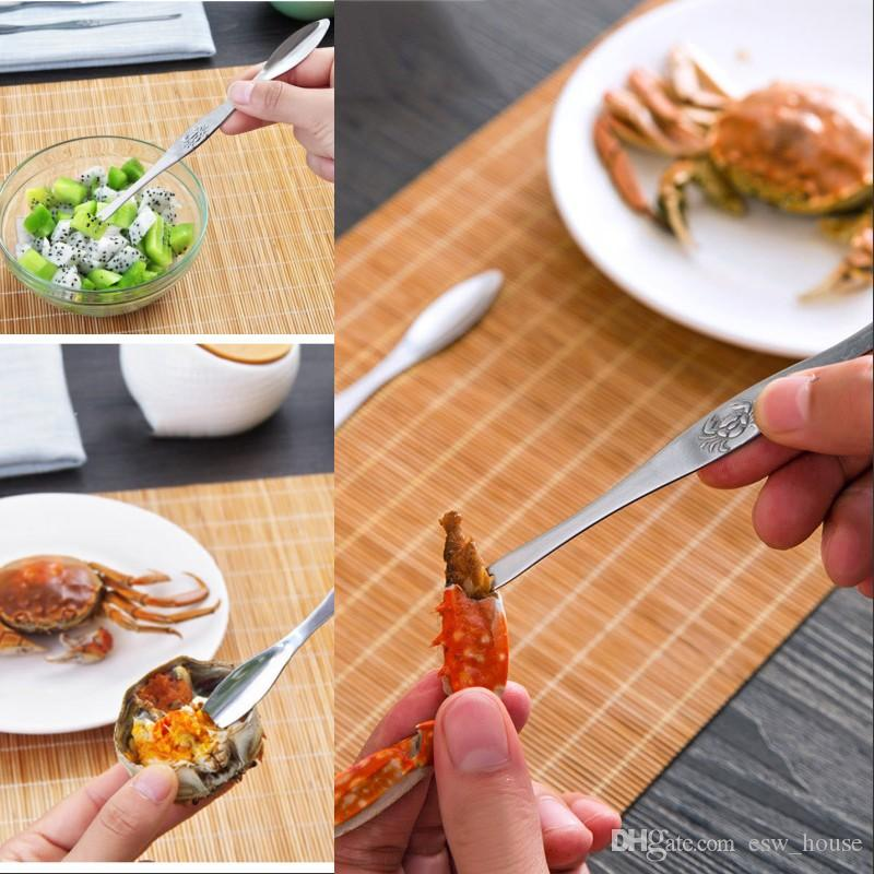 Stainless Steel Lobster Crab Tools Seafood Picks Lobster Fruit Needle Forks  Spoons Seafood Accessory Creative Fruit Fork