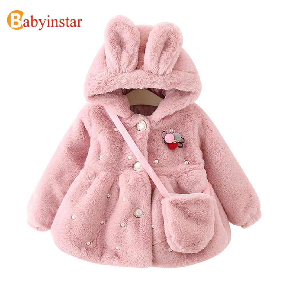 39eabae3dd96 17 Style LIMITED EDITION Baby Girls Warm Fur Bunny Wool Coats High ...