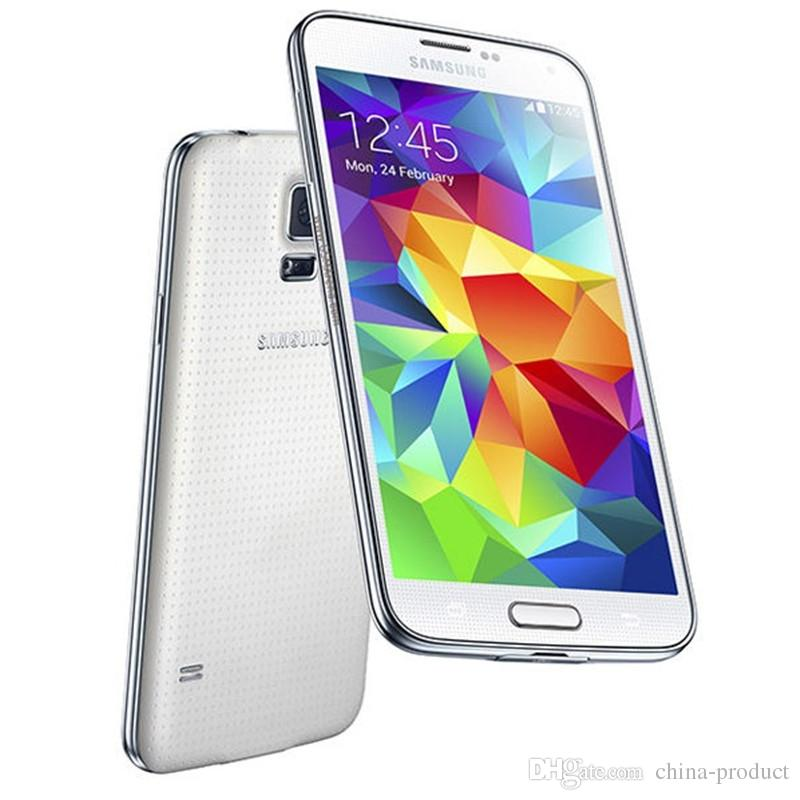 Original Unlocked Samsung Galaxy S5 i9600 G900A/G900T/G900F Quad Core 16GB  ROM 5 1inch Android Refurbished Cellphones