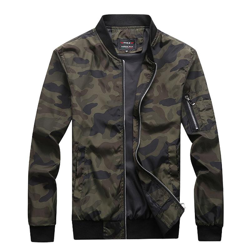 2019 New Autumn Men's Camouflage Jackets Male Coats Camo Bomber Jacket Mens Brand Clothing Outwear Plus Size M-7XL