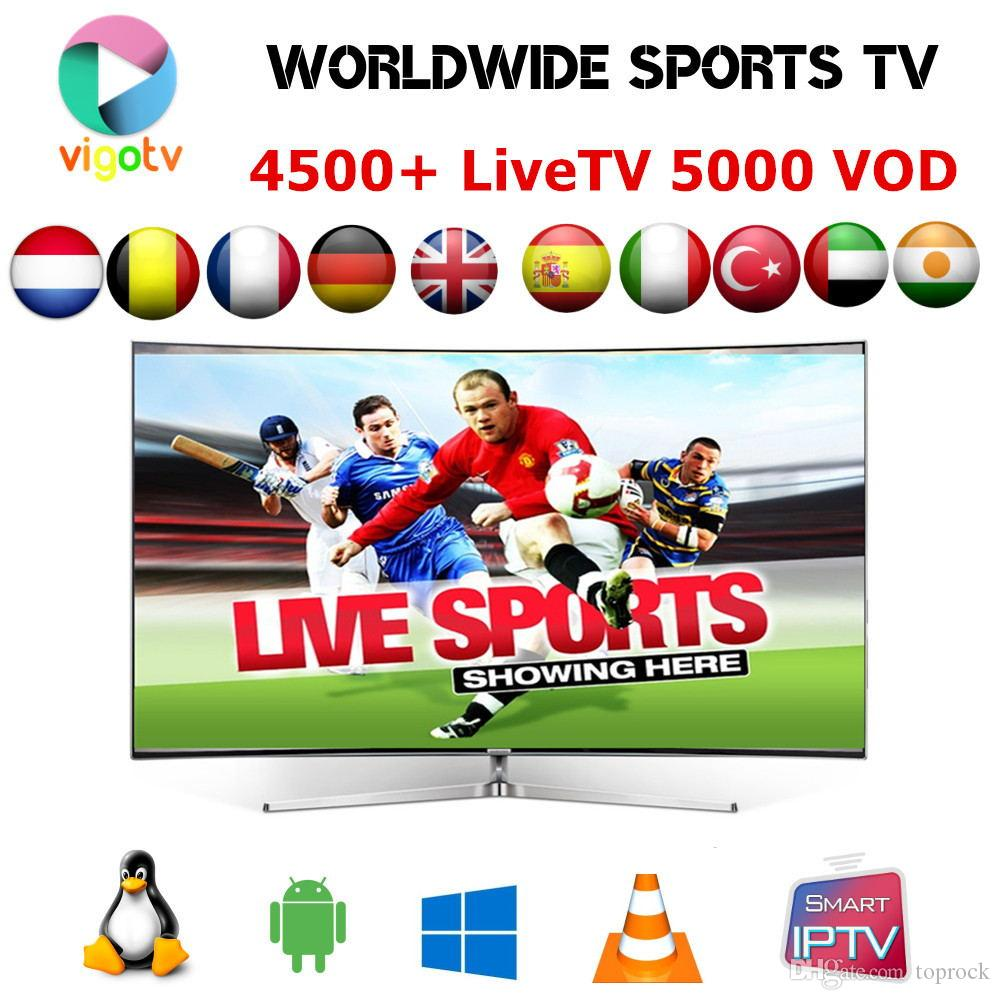 Hot sale VIGO IPTV Suscription Arabic, Europe , India, Scandinavia, French  Turkish,USA,UK, Dutch IPTV channels 4000 LIVETV 2500 VOD