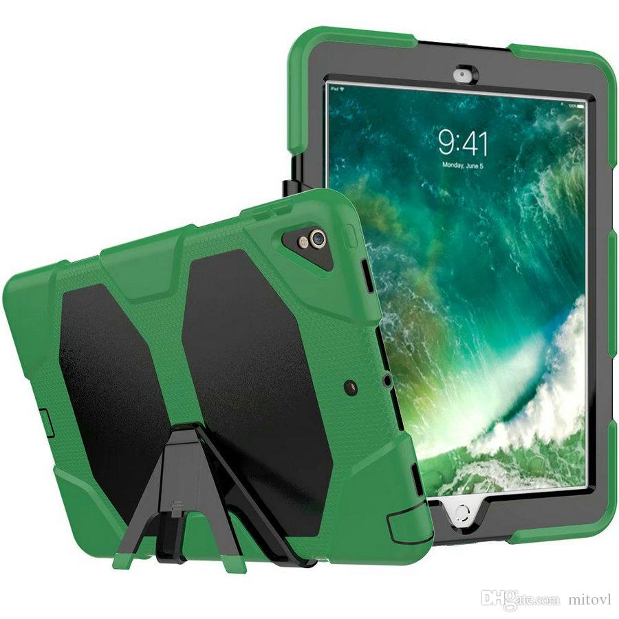 wholesale dealer 81eb5 5d976 50pcs For iPad pro 12.9 inch 2018 Case Military Extreme Heavy Duty  Shockproof Case With Screen Protector For For iPad pro 10.5