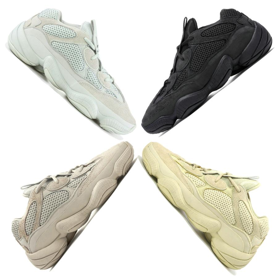 Salt 2019 500 Kanye West Running Shoes Designer Men Shoe Super Moon Yellow Blush Desert Rat 500 Womens Trainers Sports Sneakers 36-46