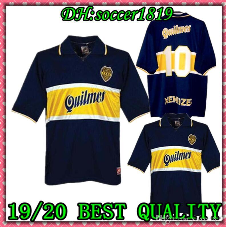 97 98 Boca Juniors Retro Soccer Jersey Maradona Vintage Caniggia 1997 1996 1998 MAGLIA Classic Football Shirts Maillot Camiseta de Futbol