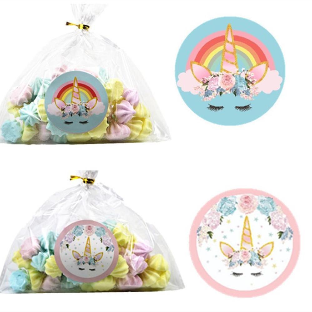 24 unids etiqueta mágica etiqueta engomada de la botella del unicornio feliz cumpleaños decoraciones del partido para los niños Boy BabyShower Unicornio fuentes del partido