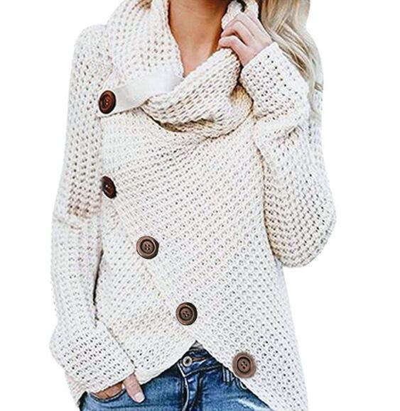 купить оптом осень и зима вязаные женские свитера с длинным рукавом