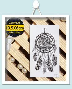 10.5*6cm Waterproof Temporary Tattoos stickers Coconut tree cute little pattern tattoo