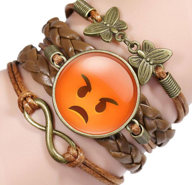 Vintage Multilayer Leather Bracelet kids teens Fashion Braided Handmade Star Rope Wrap Bracelets & Bangles children Gift