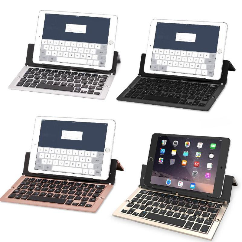 Triple Folding Wireless Bluetooth Keyboard for iOS/Android Phone/Tablet PC