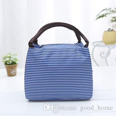 30deb163bf 2019 Women Oxford Portable Lunch Bag Stripe Insulated Cooler Bags Thermal  Food Picnic Lunch Bags Kids Lunch Box Bag Tote TTA62 From Good home
