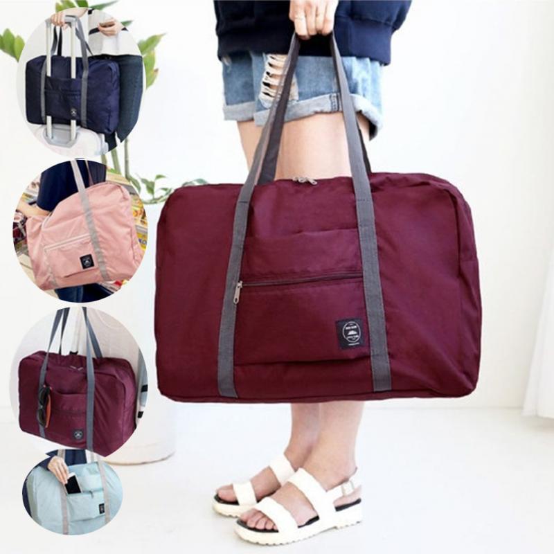8e2a34dace Waterproof Women Men Nylon Travel Bags Large Capacity Folding Duffle Bag  Organizer Packing Cubes Luggage Girl Weekend Bag  20 Travel Duffel Bags  Duffle Bags ...