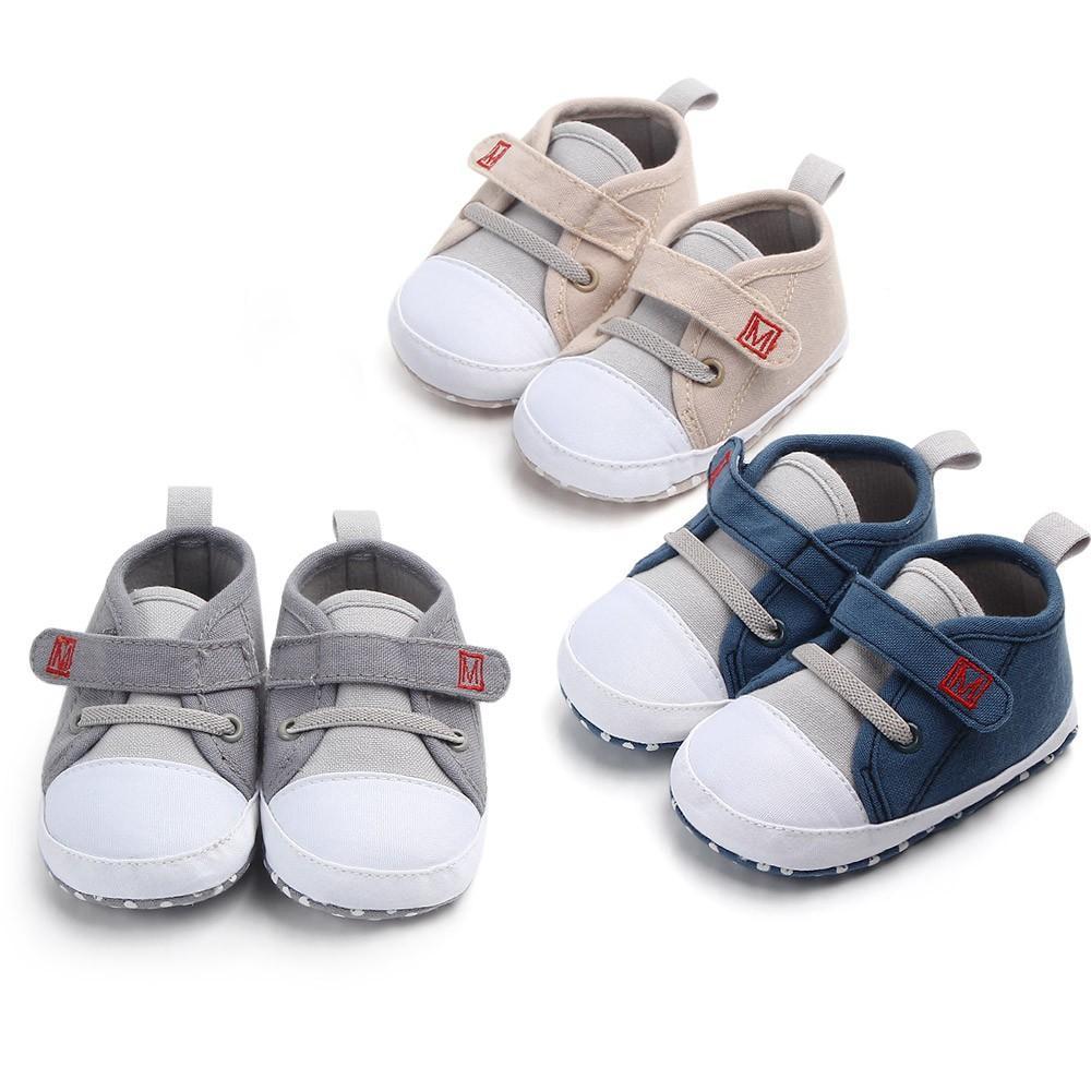 ffb58840 Compre Zapatos Para Bebés Recién Nacidos Niño Pequeño Suela Suave Gancho  Loop Zapatillas De Deporte Prewalker Bebé Niño Niña Zapatos De Cuna Recién  Nacido A ...