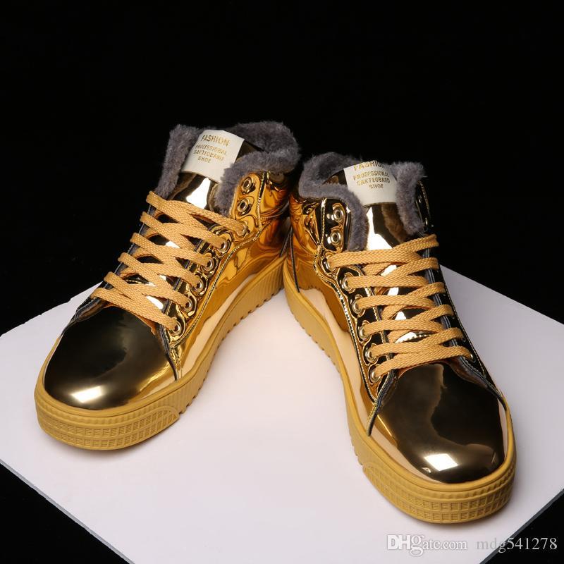 e1c23c098aaa Acheter Hommes Bottes Chaud Hommes Chaussures D'hiver Plus La Taille 38 47  Cheville Botas Hombre Pour Bottes D'hiver Chaussures Hommes Causal En  Peluche ...
