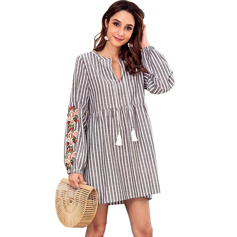 dca125db2bf7 Women Designer Maxi Dresses Clothes Dresses Sexy Short Dress Women  Jumpsuits Rompers Women Casual Striped Drawstring Waist Long Sleeved Women  Floral Dresses ...