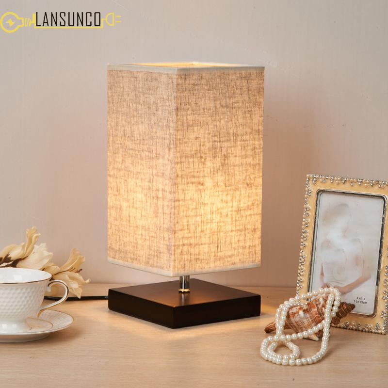 Lights & Lighting Table Lamps Simple Modern Wood Wooden Table Light For Living Study Room Beside Desk Table Lamps Lampara Abajur De Mesa Tavolo