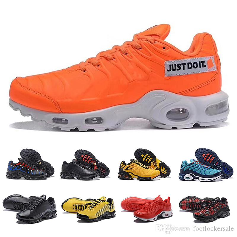 best service a80b5 63a3c Acheter TN 97 Plus Chaussures De Course Air Coussin Pour Hommes Femmes  Designer Noir Royal Smokey Mauve String Sport Baskets Zapatillas Baskets  Chaussures ...