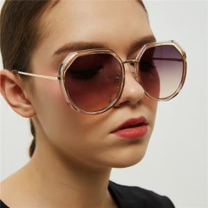 da48249db02e Round Sunglasses New Women Sunglasses Girls Polygon Hollow Lens Mirror  Metal Double Circle Men Sunglasses LJJV311 Cheap Designer Sunglasses  Sunglasses From ...