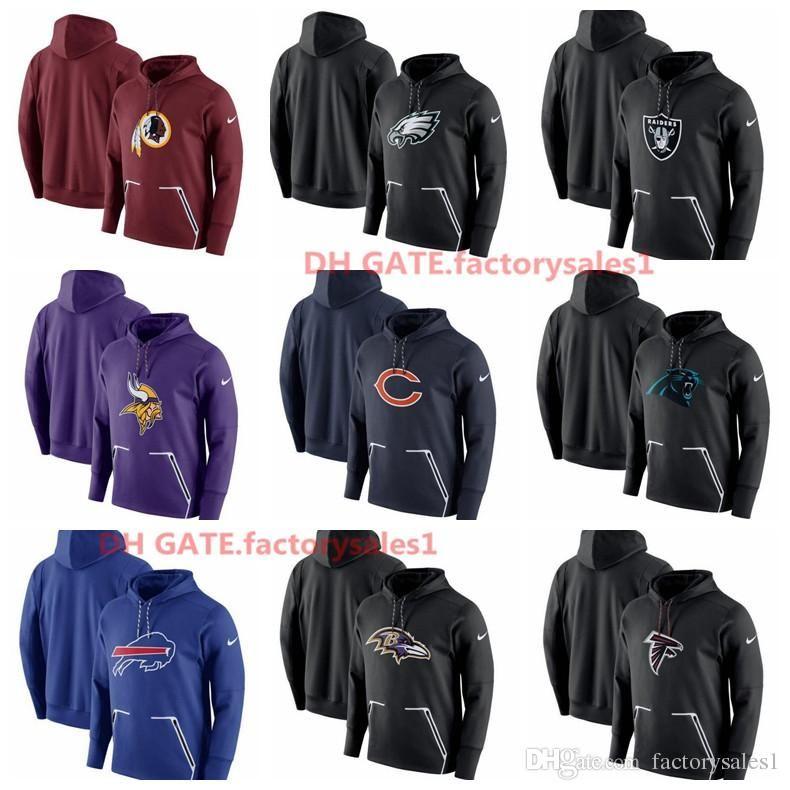 2019 2018 Mens Atlanta Falcons Baltimore Ravens Buffalo Bills Carolina  Panthers Chicago Bears Champ Drive Vapor Speed Pullover Hoodie Hot Sale  From ... 0fb382a59