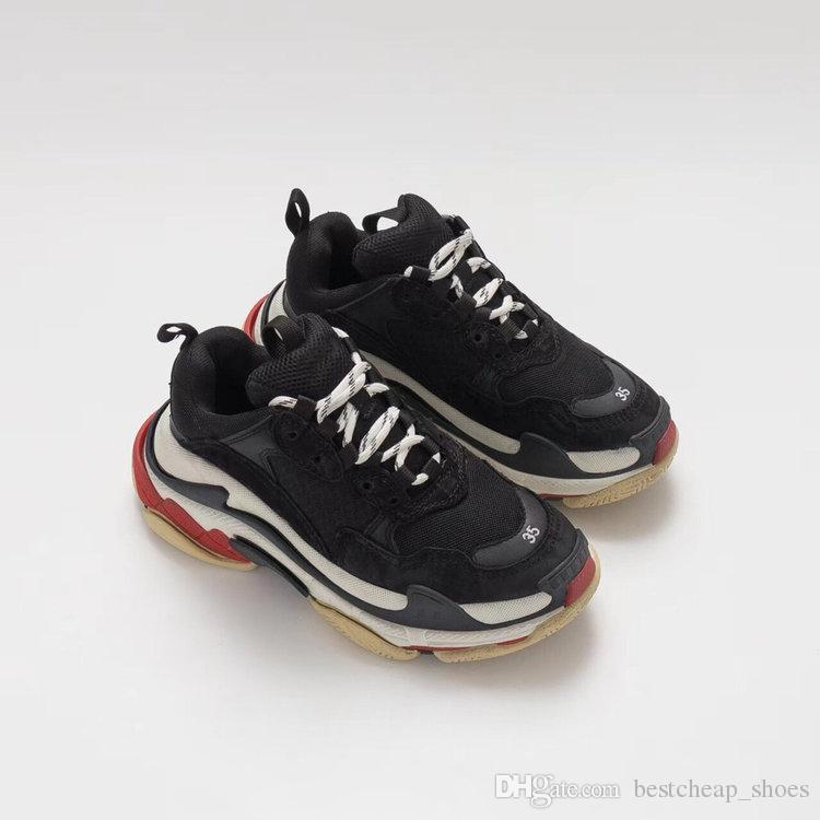 b09088a4974e 2019 Cheap Fashion Paris 17FW Triple S Sneakers Triple S Casual Dad Mens  Designer Shoes For Women Beige Black Cheap Sports Trainers Chaussures From  ...