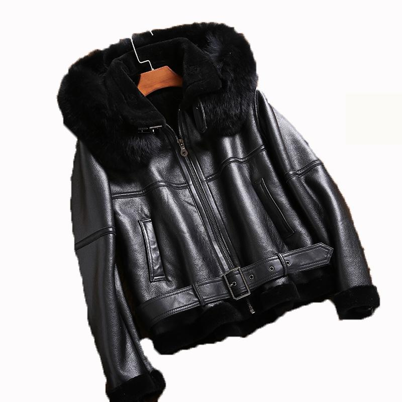 df1c014d0cad 2019 Real Fur Coat Genuine Leather Jacket Korean Fox Fur Hooded Sheepskin  Coat Winter Jacket Women Clothes 2018 Plus Size ZT1346 From Tuhua, ...