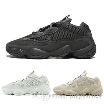 c86516d7 2019 Blush Desert Rat 500 Running Shoes Wave Runner Utility Black Salt Mens  Womens Sneakers Kanye West Designer Sports Shoes From Piggyshoes, ...