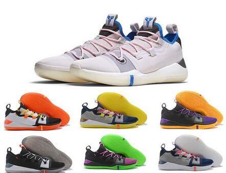 brand new f7559 e0856 Großhandel 2018 New Kobe AD React Exodus Derozan Schwarz Silber Lila Rosa Basketball  Schuhe Hohe Qualität KB Mens Trainer Sport Turnschuhe Size7 12 Von ...