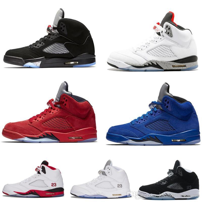 81781b6c187292 Mens Basketball Shoes 5 SUP Bred Wings 5s PSG Black PARIS Laney Oreo ...