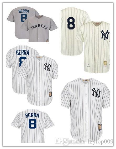 980dcfec9 custom 2019 Men s Yankees 8 Yogi Berra Mitchell New York   Ness CreamNavy  Throwback 1951 Authentic women kids Jersey