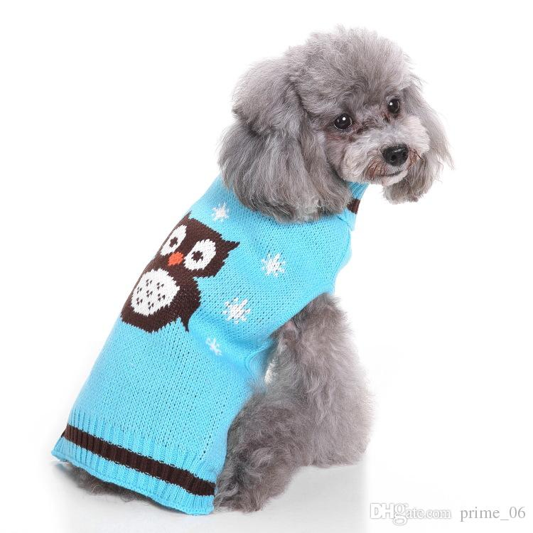 dc501e92088a 2019 Pet Dog Sweater Christmas Costume Cute Cartoon Clothes For Small Dog  Cloth Costume Dress Xmas Apparel For Kitty Dogs By DHL From Prime_06, ...