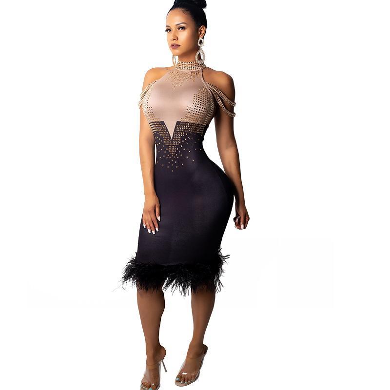 fe7e9a27b29f6 Großhandel Kleid Frauen Hot Diamond Sexy Schulter Kleid Farbige Sexy Party  Club Kleider Von Beenlo, $33.8 Auf De.Dhgate.Com   Dhgate