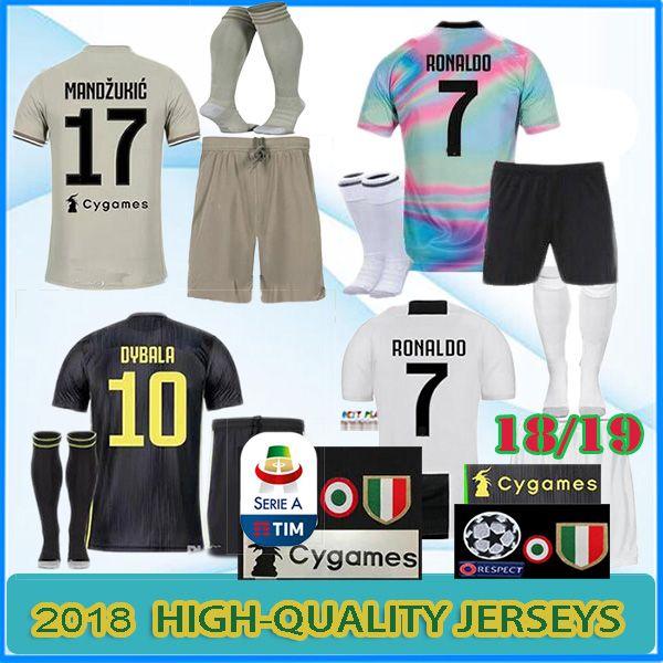 a4aeb951e 2019 18 19 Juventus Soccer Jersey Kit 2018 2019 EA Juve RONALDO HIGUAIN  DYBALA D. Costa MANDZUKIC BUFFON Third Football Shirt Uniforms From  Bestplayer