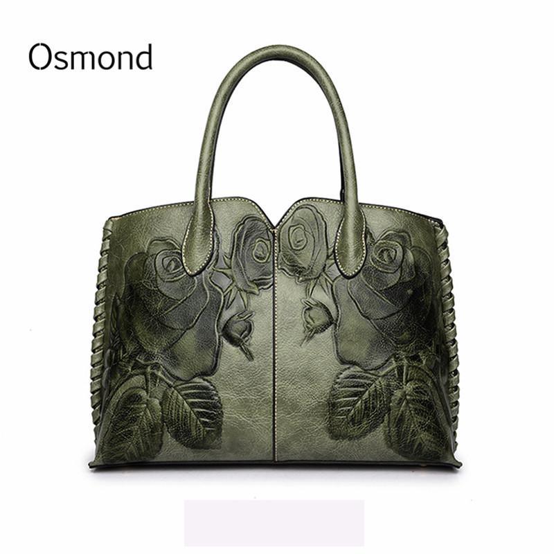 e21110dae9c6 Osmond Bolsa Feminina 2018 Ladies Genuine Leather Bag For Women ...