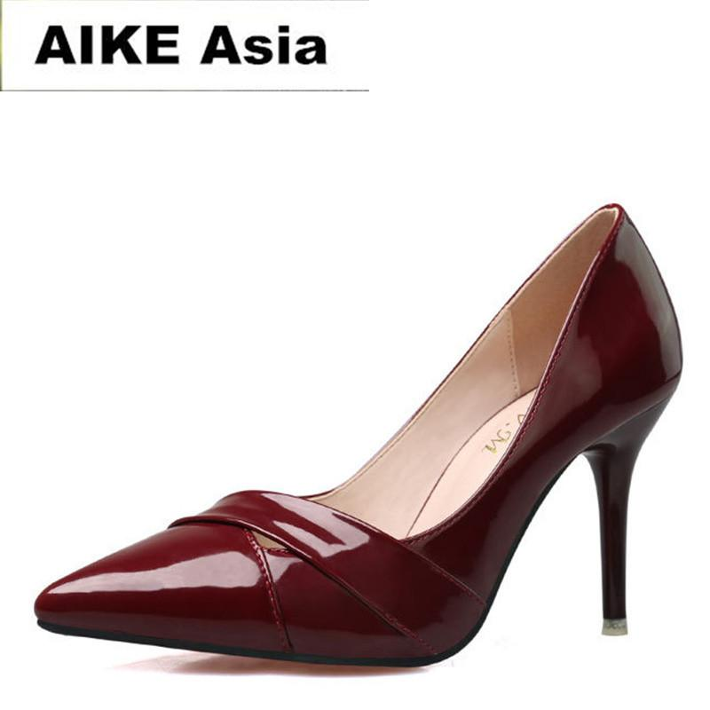 38f411d1f781 Designer Dress Shoes 2019 New Fashion High Heels Women Pumps Thin Heel  Classic White Red Nede Beige Sexy Prom Wedding Womens Sandals Orthopedic  Shoes From ...