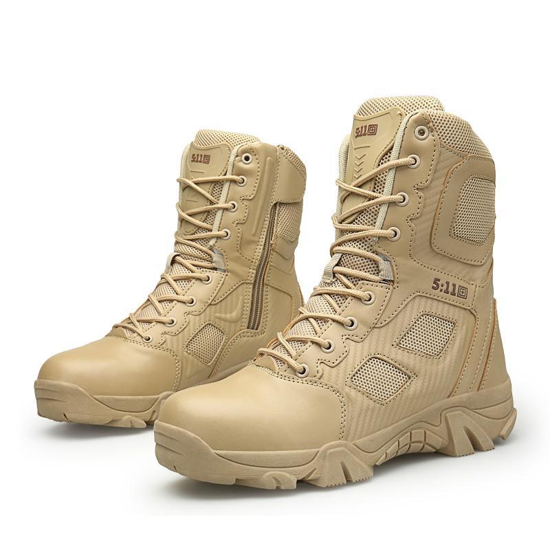b9adf3796ec Compre Botas Del Ejército De Invierno Para Hombre Táctico Militar Zapatos  De Bota Del Desierto Hombres Otoño Transpirable Botines De Nieve Botas  Tacticos ...