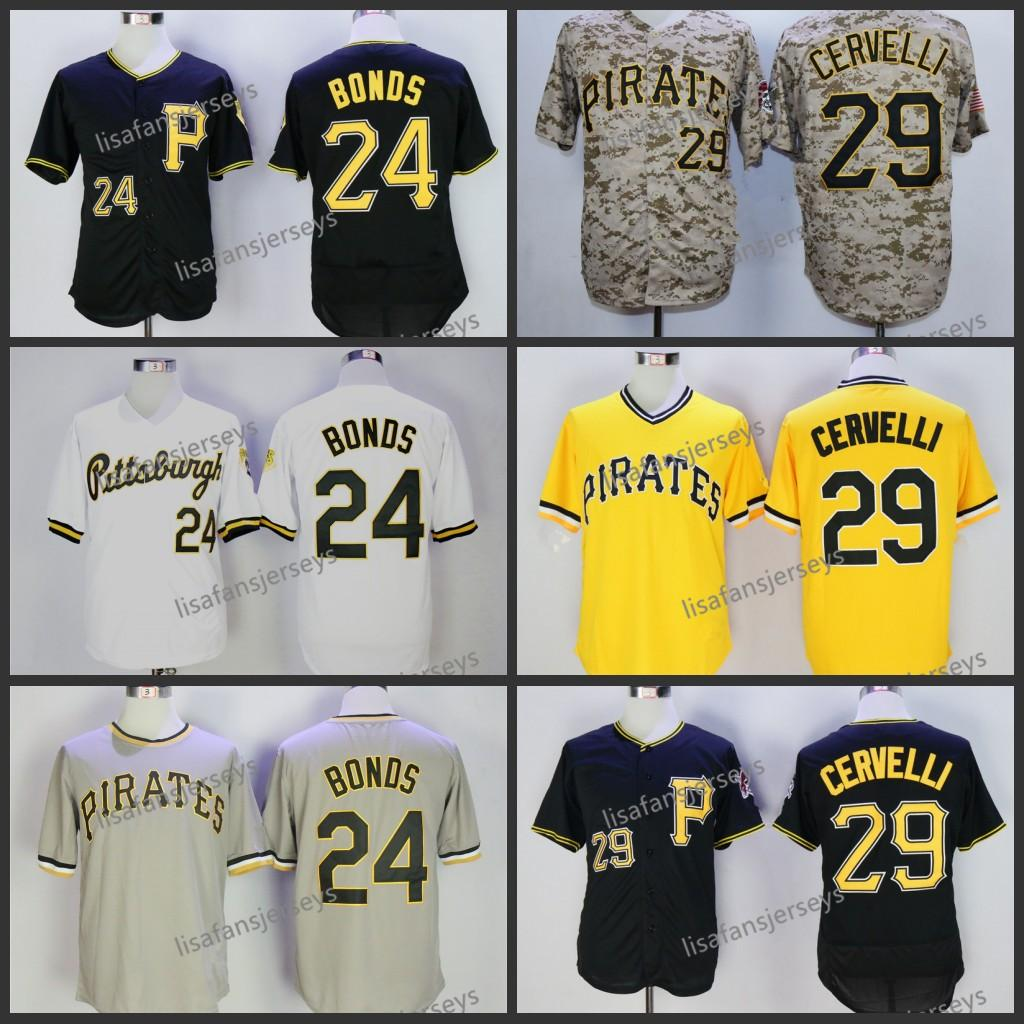 29597df52ae 2019 Mens Baseball Jerseys 24 Barry Bonds 29 Francisco Cervelli Home Away  Road White Yellow Black Camo Embroidered Cheap Stitched Baseball Jersey  From ...
