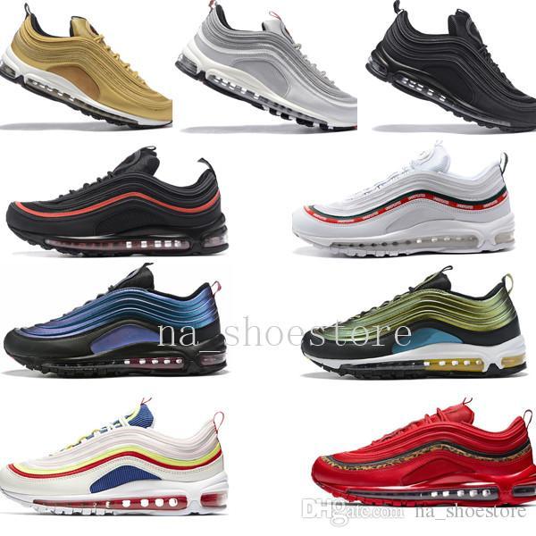 Men Shoes s OG Gold Silver Bullet Triple White Black Mens womens Summer Style Good Quality Size 36 46