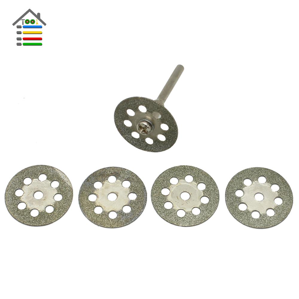 5pc 22mm Mini Diamond Grinding Wheel Saw Blades Sharpen Grinder Cutting Disc Cuts Off Abrasive Rotary Tool for Dremel 4000 3000 5pc
