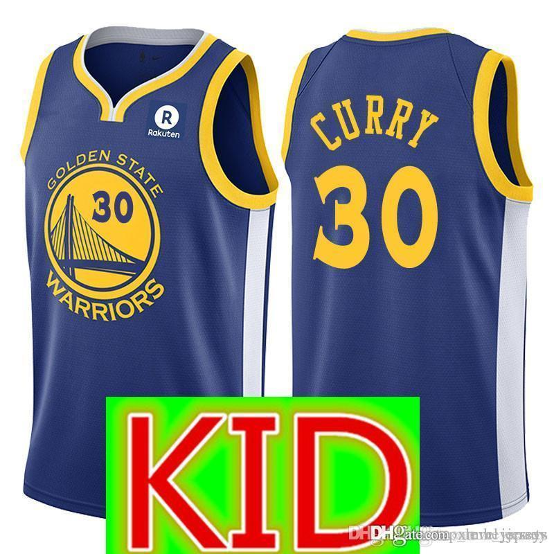 c72be6c73 usa 2019 kid 30 curry golden state 35 kevin durant warriors jersey top  youth 30 stephen
