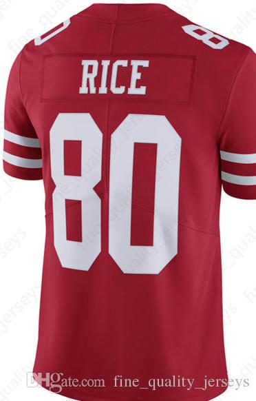 1af330db5 2019 80 Jerry Rice 10 Jimmy Garoppolo San Francisco 49ers Jerseys 7 Colin  Kaepernick McGlinchey 25 Richard Sherman 56 Reuben Foster 16 Montana From  ...