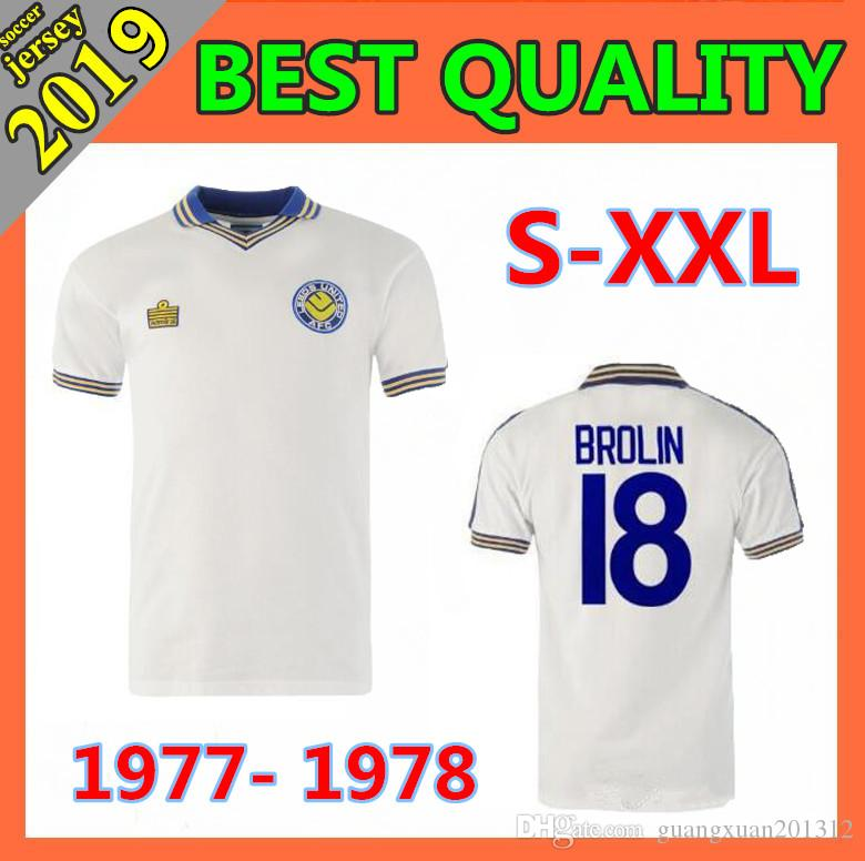 9e0a905edd493 2019 1977 1978 Leeds United Retro Version Soccer Jerseys 1997 Leeds Home  White ROOFE BAMFORD ALIOSKI JANSSON Football Shirt Size S XXL From  Guangxuan201312, ...