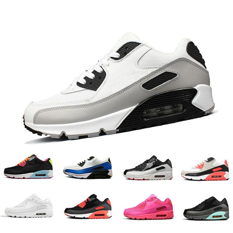 promo code 65c82 3d63b Großhandel Classic 90 Casual Schuhe Sneakerscushion Männer Frauen Outdoor  Schwarz Weiß Sport Shock Jogging Walking Wandern Sport Sportliche Turnschuhe  90 ...